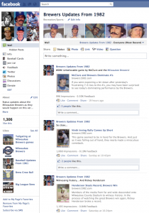 Brewers Updates From 1982 on Facebook