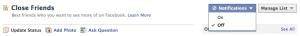 Facebook List Notifications