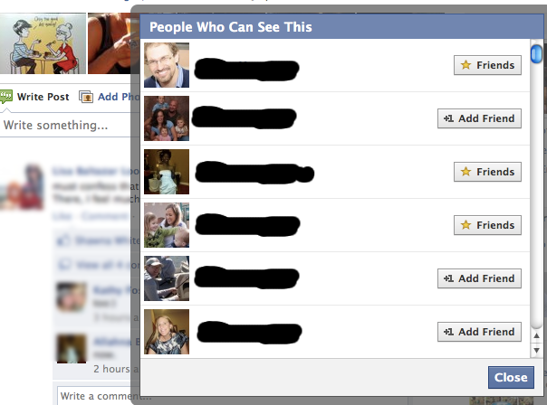 People can see who is in the Close Friends List?