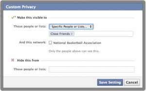 Default Facebook Privacy