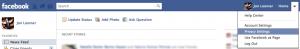 Facebook Privacy Dropdown