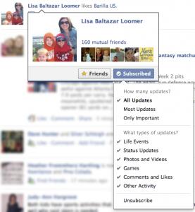 Facebook Subscribed