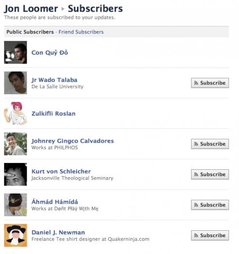 Facebook Subscriptions: Second Impressions