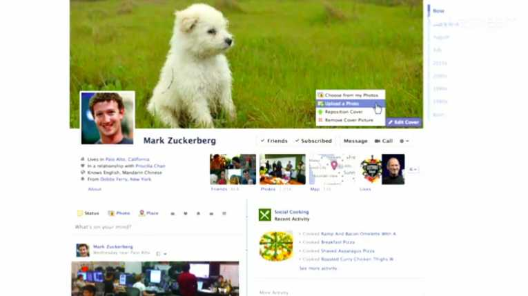 Mark Zuckerberg's new Facebook Timeline