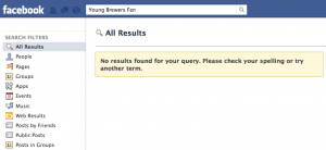 Empty Facebook Search Results