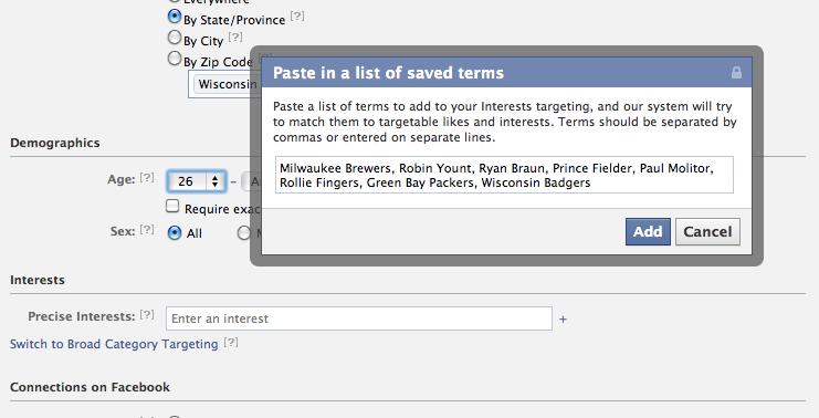 Facebook Ad Targeting