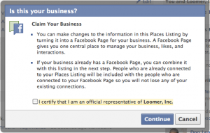 Claim Facebook Place
