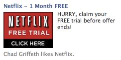 Facebook Ad Netflix