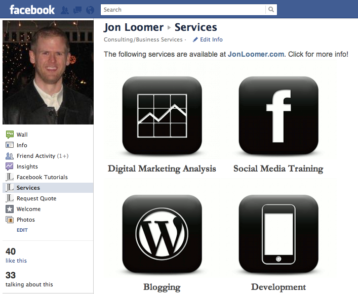 Pulling in content with a Facebook iFrame
