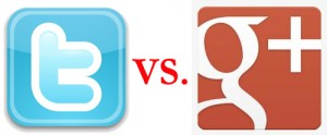 Twitter vs. Google Plus