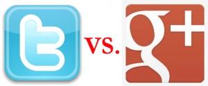 Twitter vs. Google Plus