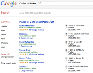 Google Places Search Result