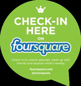Check in on Foursquare