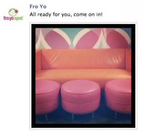 Fro Yo Spot Orange Couch