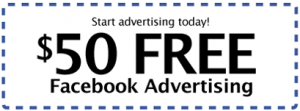 facebookadcoupon 300x111 How to Get a Free $50 Facebook Advertising Coupon Code