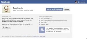 GoodReads Facebook Install