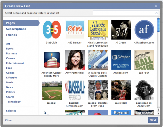 InterestLists4 560x436 How to Create and Subscribe to Facebook Interest Lists