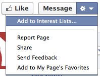 Add to Facebook Interest Lists