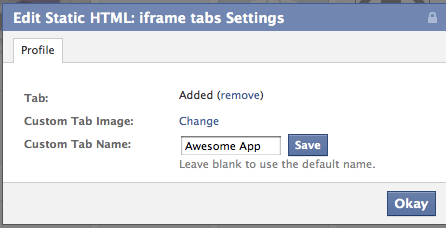 editappname How to Create a Featured Facebook Timeline App with Static HTML
