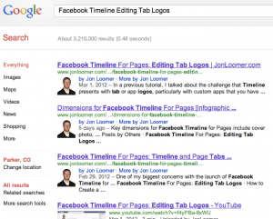 Facebook Timeline Editing Tab Logos Google Search Results
