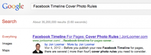 Facebook Cover Photo Rules Google Search Results
