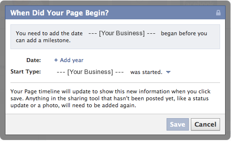When Did Your Facebook Page Begin?