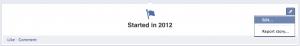 Edit Facebook Timeline Start Date