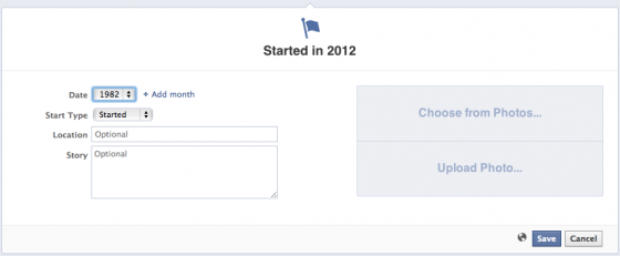 Edit Facebook Page Timeline Start Date