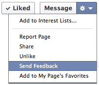 Facebook Timeline For Pages: Contact Facebook