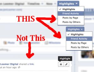 Facebook Timeline for Pages Highlights