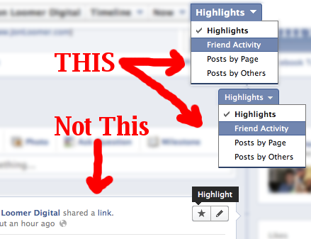 highlights Facebook Timeline Highlights: A Clarification