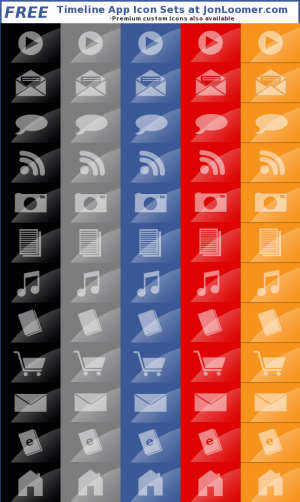 Free Facebook Timeline App Icons
