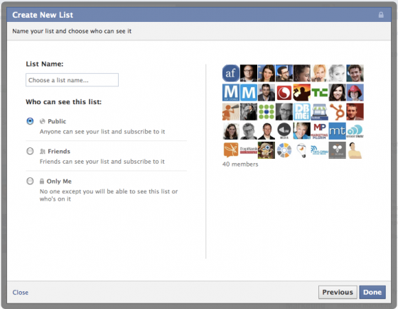 interestlists51 560x436 How to Create and Subscribe to Facebook Interest Lists