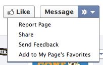 Add to Favorites Facebook