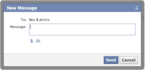 Private Message Dialog Facebook Page Timeline