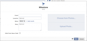 Facebook Timeline for Pages Milestone