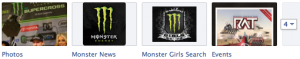 Monster Energy Facebook Tabs