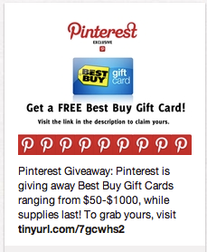 Pinterest Hacked Free Best Buy Gift Card