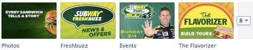 Subway Facebook Tabs