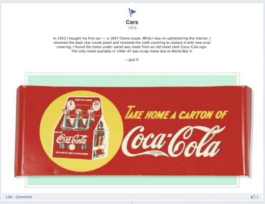 Facebook Timeline Coca-Cola