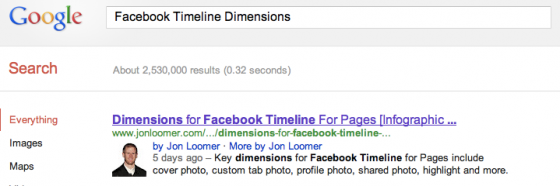 Facebook Timeline Dimensions Google Search Results