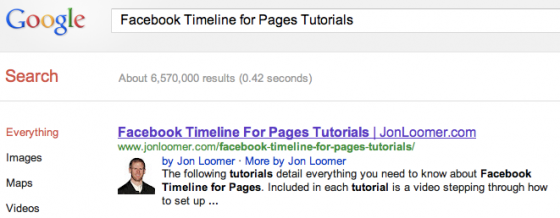 Facebook Timeline for Pages Tutorials Google Search Results