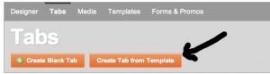 ShortStack Create Tab From Template