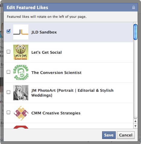 Facebook Timeline Edit Featured Likes