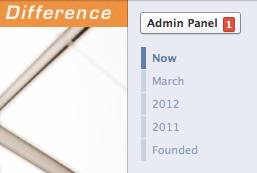 Facebook Admin Panel Notification