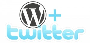 wordpress+twitter