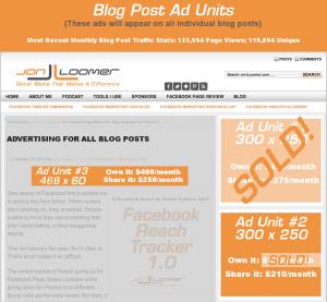Advertising on JonLoomer.com