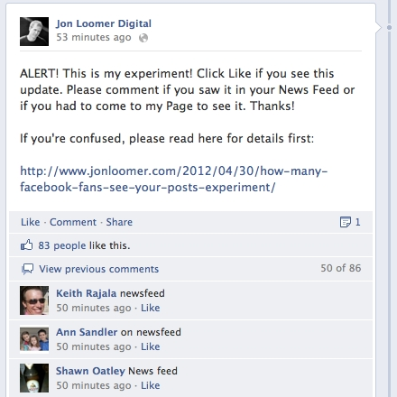 experiment How Many Facebook Fans See Your Posts? [Results]