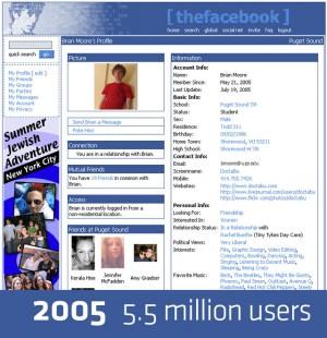 Facebook Design 2005