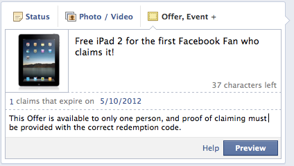 ipadoffer 5 Creative Uses of Facebook Offers for Businesses